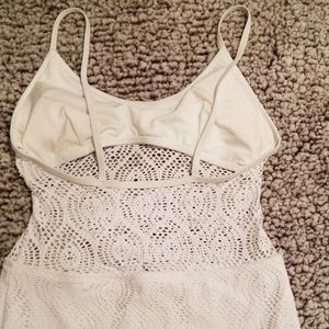 "Forever 21 Swim - Forever 21 Crochet ""like"" 1 piece Bathing Suit S/M"